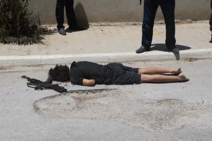 Un terroriste tué lors d'une fusillade, capture d'écran d'une vidéo de RT