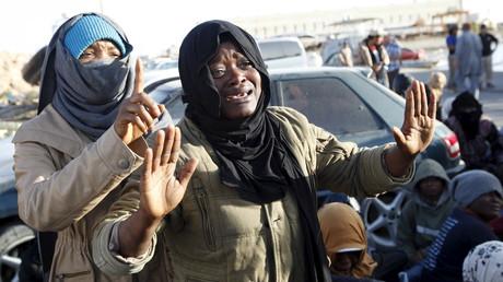 Des migrants illégaux en Libye