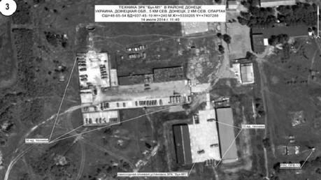 Système de missiles antiaériens Buk dans la région de Donetsk, 14 juillet 2014