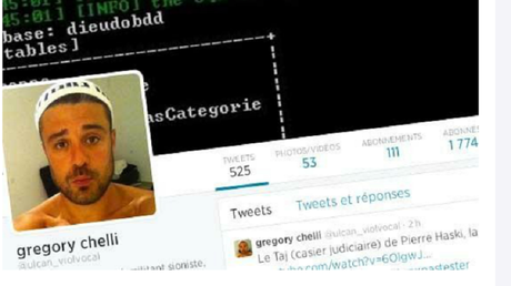 Capture écran site Facebook de Grégory  Chelli dit Ulcan