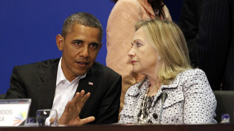 Barak Obama et Hillary Clinton