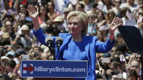 Hillary Clinton lance officiellement sa campagne samedi à New-York.