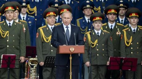 Le président russe Vladimir Poutine se prononce sur le forum international «Armée-2015»