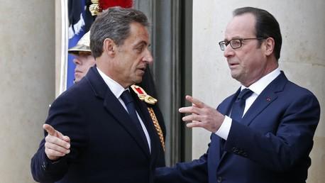 Nicolas Sarkozy et François Hollande