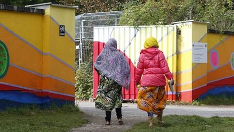 Un camp de réfugiés en Allemagne
