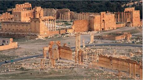 Vue de Palmyre (Capture d'écran France info)