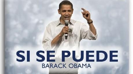 Le Yes we can version latino (image parti démocrate USA, capture d'écran)