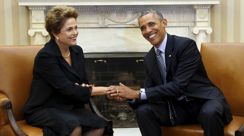 Dilma Rousseff et Barack Obama à Washington
