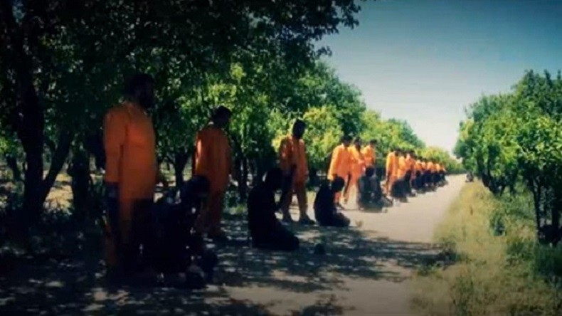 L'execution des combattants de Daesh par les rebelles syriens
