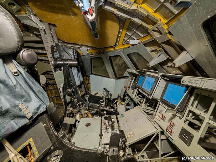Le cockpit d'un des deux engins