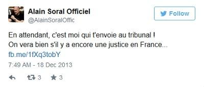 Alain Soral perd son procès en diffamation contre l'ex-président des étudiants juifs