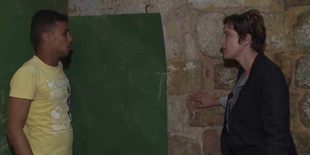 Le mur qui sépare les deux familles, capture d'écran d'une vidéo de RT