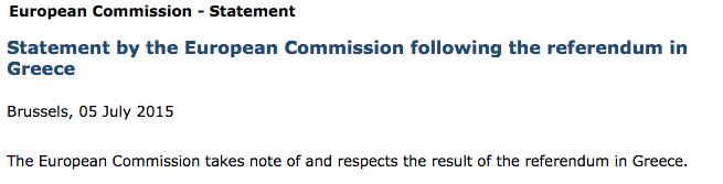 Communique de la Commission européenne