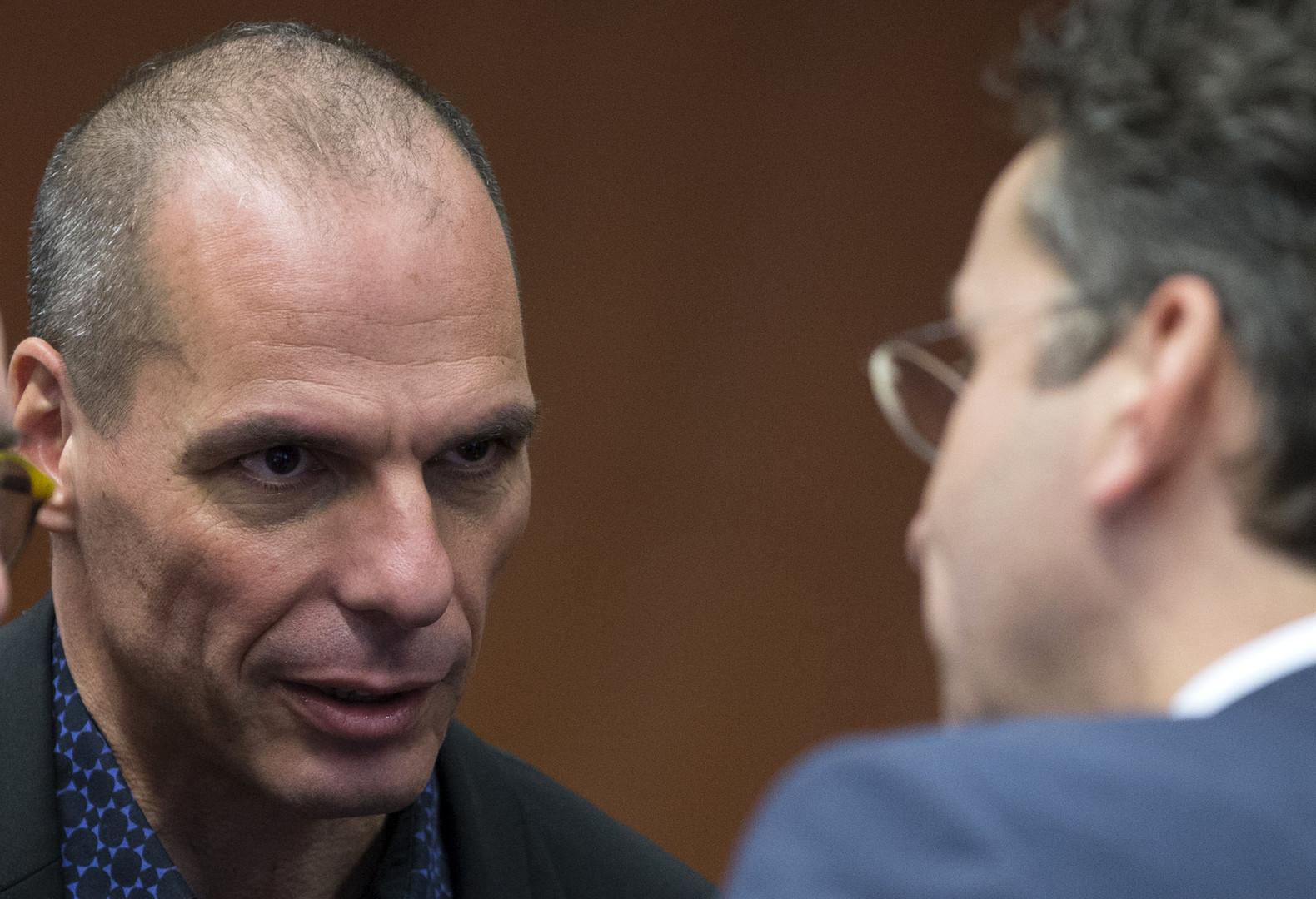 Yanis Varoufakis et Jeroen Dijsselbloem
