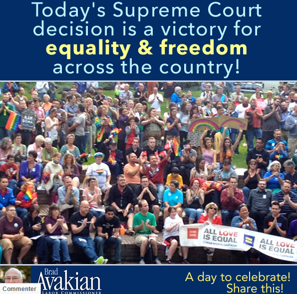 Brad Avakian est un fervent défenseur du mariage homosexuel