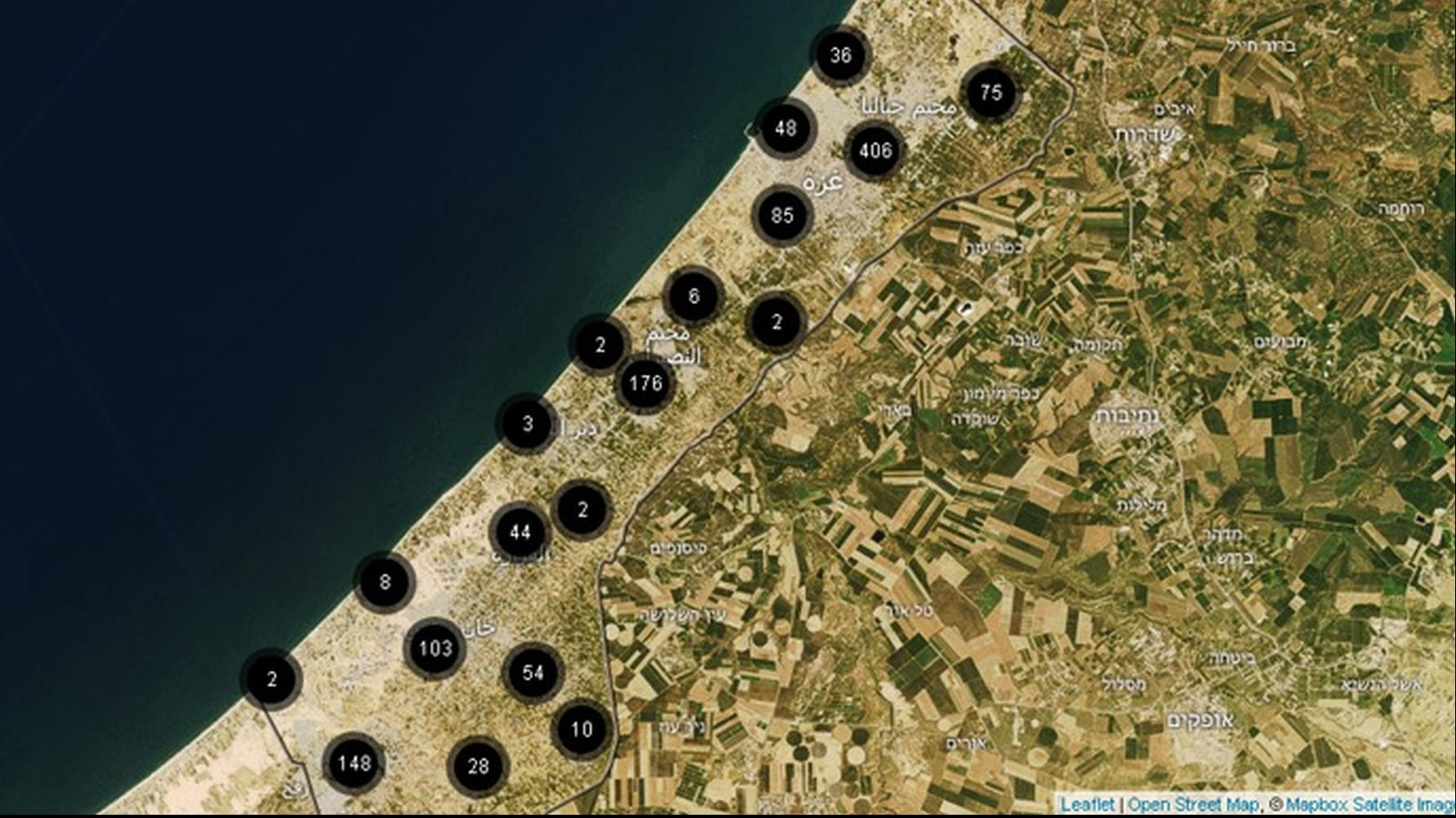 Une carte interactive révèle le détail des frappes israéliennes un an après la guerre de Gaza