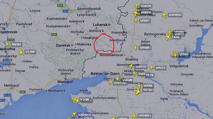 Capture d'écran, flightradar24.com