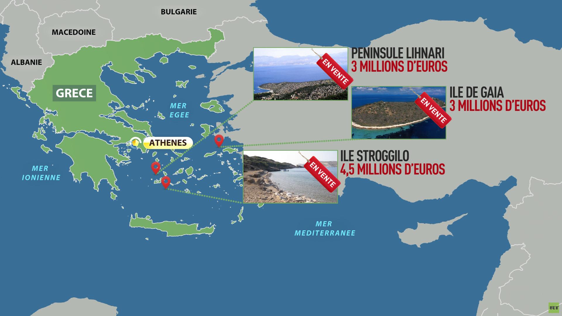 Des îles grecques en vente