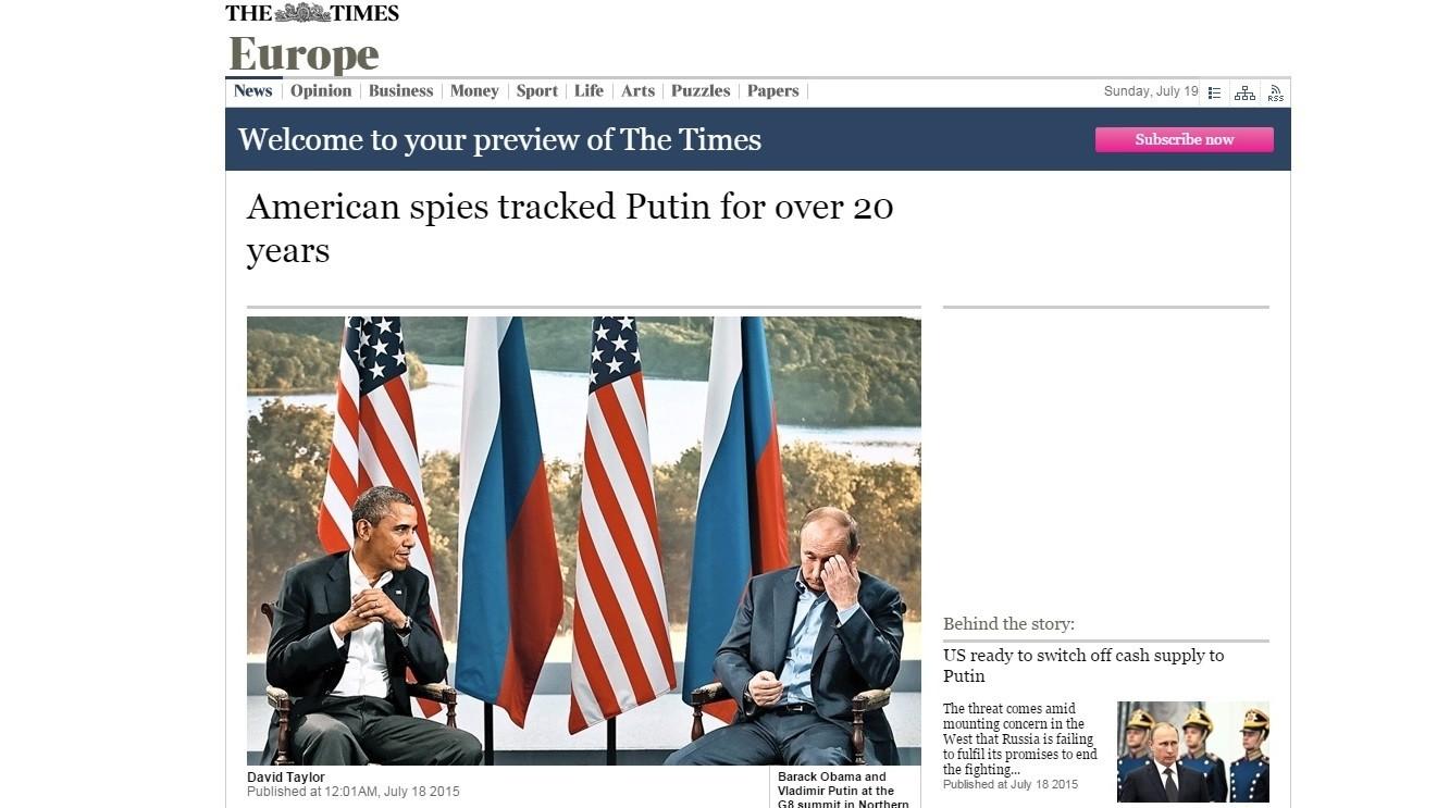 La CIA garde Poutine à l'œil depuis plus de 20 ans
