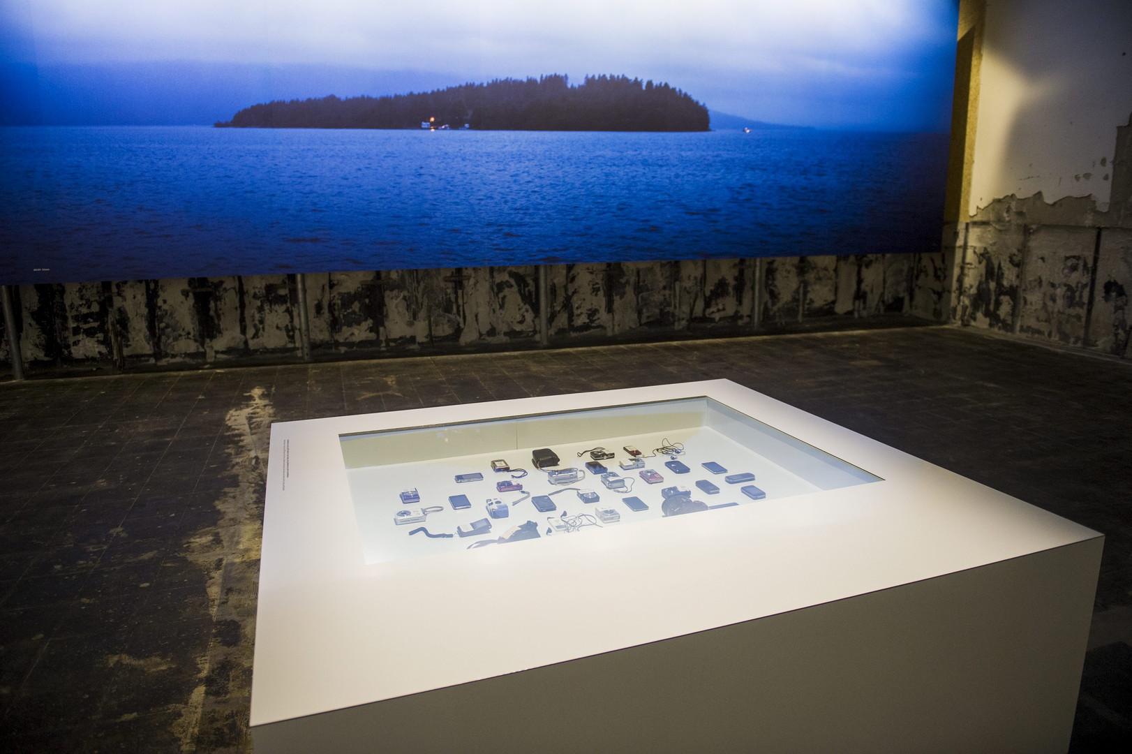 L'exposition présente des objets que Breivik portaient au moment du massacre.