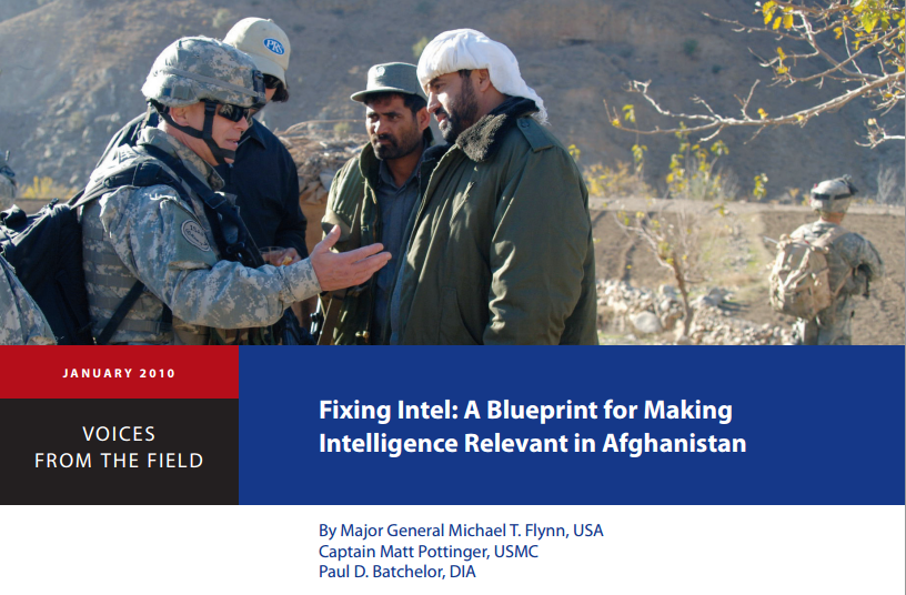 La couverture du rapport de Mike Flynn sur le conflit en Afghanistan.