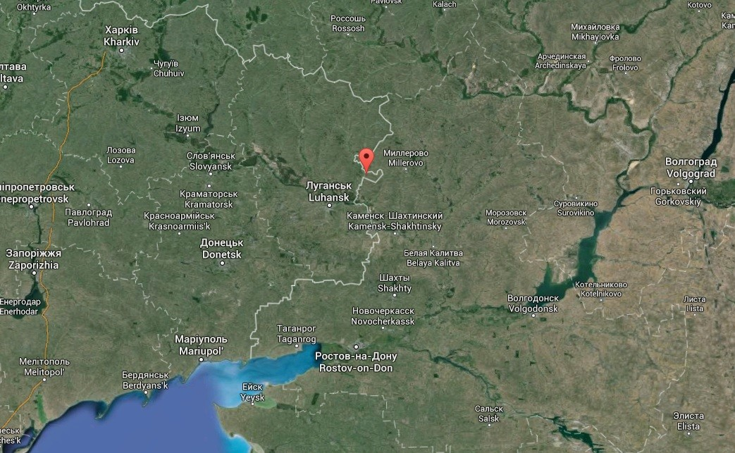 Le point de contrôle «Krasnaya Talovka»
