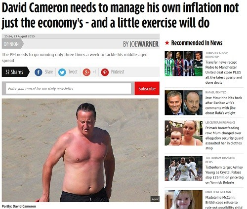 David Cameron serait-il lui-aussi un gros ?