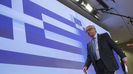 Le président de la Comission européenne Jean-Claude Juncker après sa conférence de presse