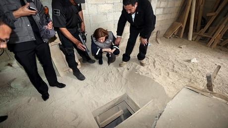 Le trou creusé dans la cellule du fugitif