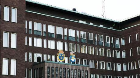 Siège de la police de Göteborg, Suède (capture Expressen)