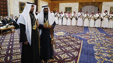 Membres de la suite du roi d'Arabie saoudite