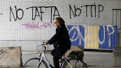Un graffiti dans les rues de Bruxelles