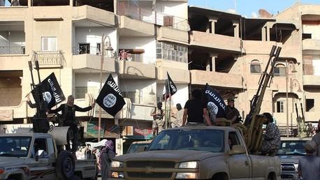 Des combattants de Daesh, Source : capture d'écran, compte Twitter  @BFMTV