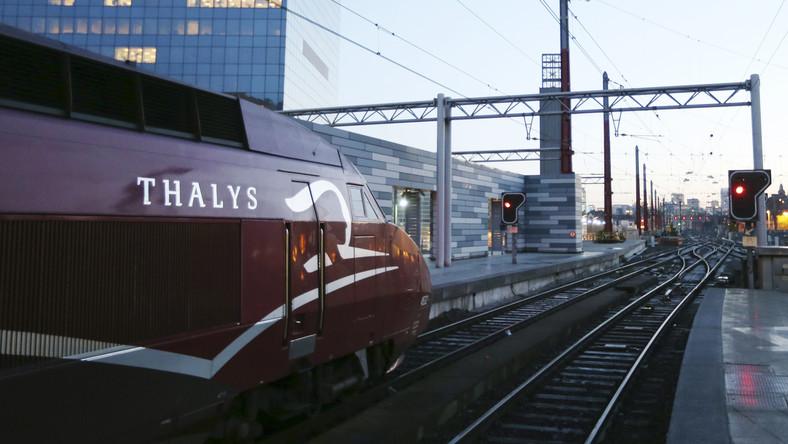 Un train Thalys à Bruxelles
