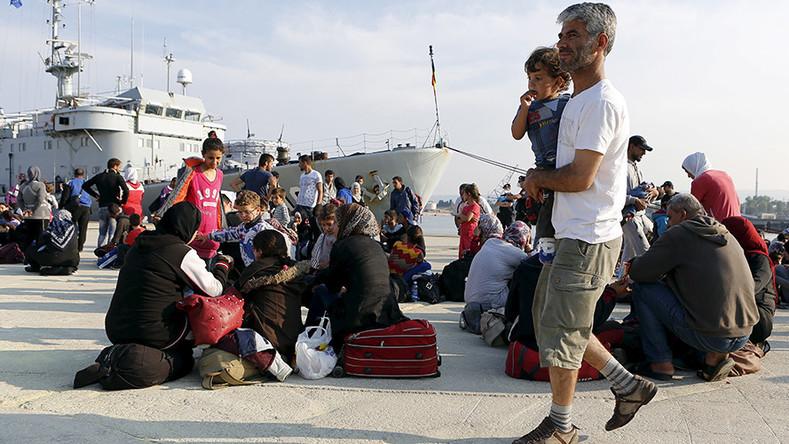 Des migrants syriens en Italie