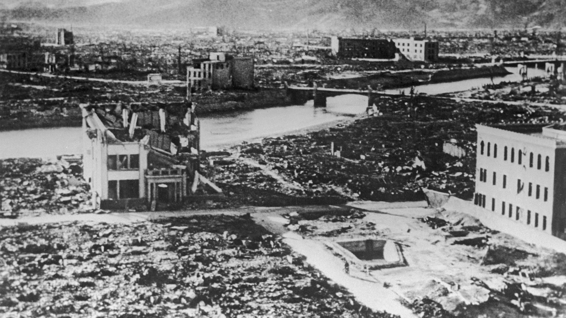 Hiroshima après le bombardement américain