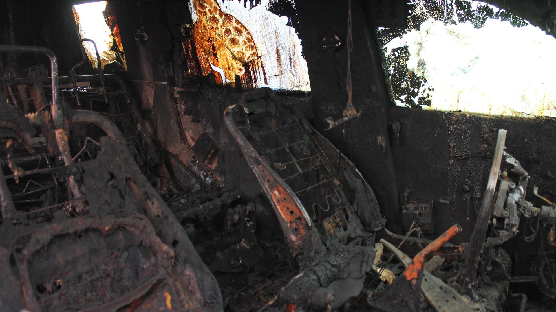 Une voiture de l'OSCE brûlée à Donetsk