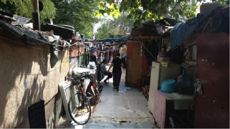 Un bidonville menacé d'expulsion en perspective de la Conférence Climat