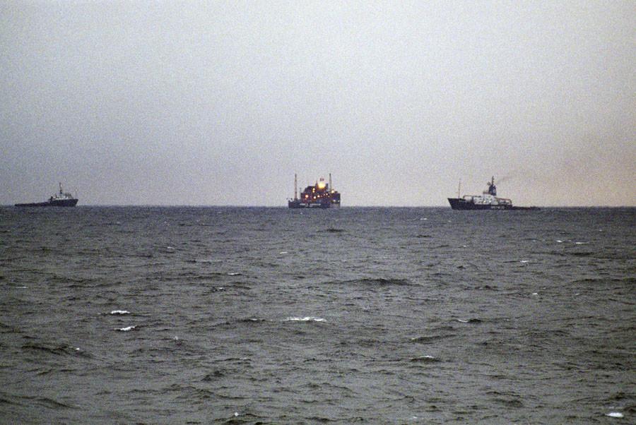 Zone de recherches du «Koursk» en mer de Barents. La flotte russe du Nord