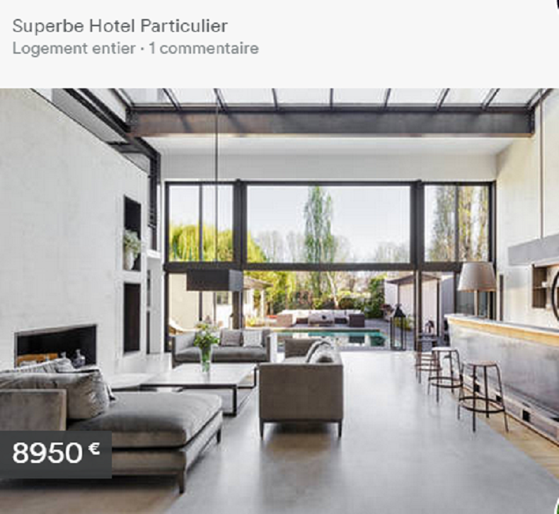 Une des nombreuses locations de luxe du site (Capture)