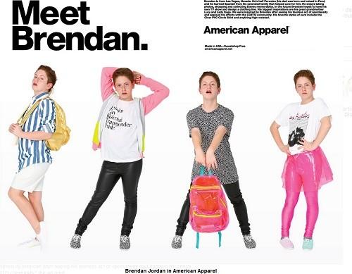 L'une des campagnes de pub d'American Apparel