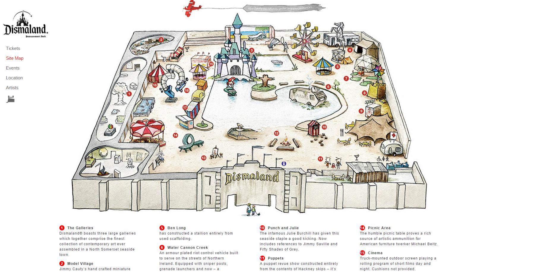 «Dismaland», le parc d'attractions glauque de Banksy ouvre ses portes