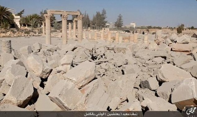 Daesh diffuse des photos de la destruction d'un trésor archéologique de Palmyre