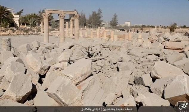 Le temple de Baalshamin était l'un des plus célèbres de la cité antique de Palmyre.
