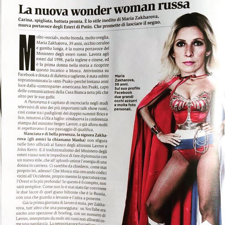 Wonder Woman : les médias européens sous le charme de Maria Zakharova