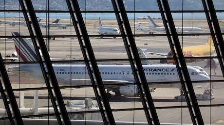 Un avion de la compagnie Air France sur le tarmac de Nice