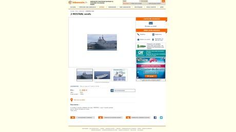 Les Mistral construits pour la Russie en vente... pour 1200 euros sur le Bon Coin