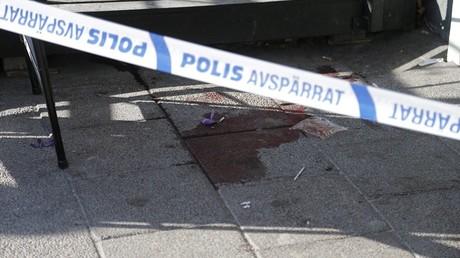 Une zône de crime bouclée par un cordon de la police à Göteborg (Sud)