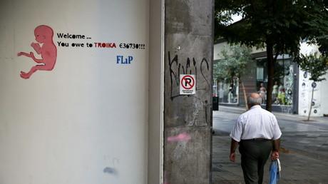 Graffiti dans une rue d'Athènes