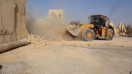 La destruction du monastère Saint Eliane par Daesh en Syrie